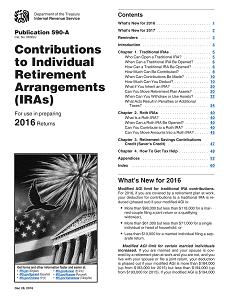 IRS Publication 590-A - Contributions to Individual Retirement Arrangements (IRAs)