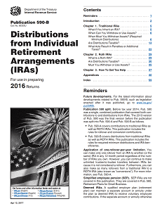 IRS Publication 590-B - Distributions from Individual Retirement Arrangements (IRAs)
